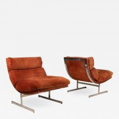 Kipp Stewart Pair of Lounge Chairs by Kipp Stewart for Directional - 976727