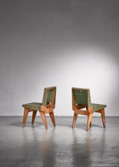 Klaus Grabe Klaus Grabe pair of webbed side chairs - 1702353
