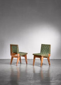 Klaus Grabe Klaus Grabe pair of webbed side chairs - 1702354