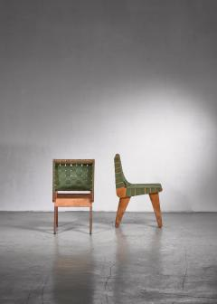 Klaus Grabe Klaus Grabe pair of webbed side chairs - 1702356