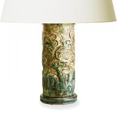 Knud Kyhn Exceptional Table Lamp with Leapijg Gazelle Relief by Knud Kyhn - 1258262