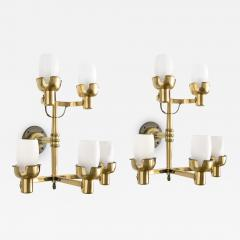 Knut Hallgren KNUT HALLGREN LARGE BRASS 5 ARM SCONCES - 1002064