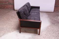 Knut S ter Leather and Rosewood Sofa Designed by Knut S ter for Vatne M bler - 1314575