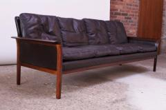 Knut S ter Leather and Rosewood Sofa Designed by Knut S ter for Vatne M bler - 1314578