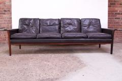 Knut S ter Leather and Rosewood Sofa Designed by Knut S ter for Vatne M bler - 1314581