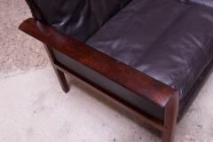 Knut S ter Leather and Rosewood Sofa Designed by Knut S ter for Vatne M bler - 1314584