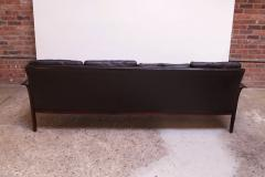 Knut S ter Leather and Rosewood Sofa Designed by Knut S ter for Vatne M bler - 1314588