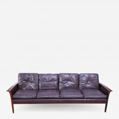 Knut S ter Leather and Rosewood Sofa Designed by Knut S ter for Vatne M bler - 1316866