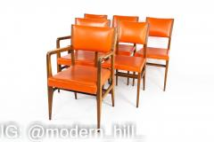 Kofod Larsen for Selig Style Mid Century Walnut Dining Chairs Set of 6 - 1870074