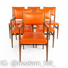 Kofod Larsen for Selig Style Mid Century Walnut Dining Chairs Set of 6 - 1870075
