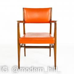 Kofod Larsen for Selig Style Mid Century Walnut Dining Chairs Set of 6 - 1870076