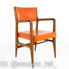 Kofod Larsen for Selig Style Mid Century Walnut Dining Chairs Set of 6 - 1870077