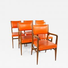 Kofod Larsen for Selig Style Mid Century Walnut Dining Chairs Set of 6 - 1877916