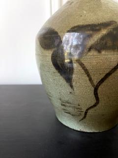 Korean Celadon Bottle Vase with Slip Decoration Goryeo Dynasty - 2114342