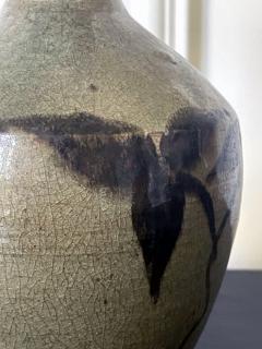 Korean Celadon Bottle Vase with Slip Decoration Goryeo Dynasty - 2114343