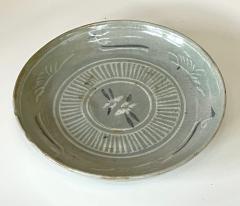 Korean Celadon Inlay Plate Goryeo Period - 1958125