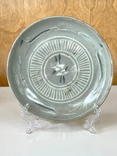 Korean Celadon Inlay Plate Goryeo Period - 1958135