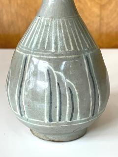 Korean Celadon Inlay Vase Goryeo Dynasty - 1958182