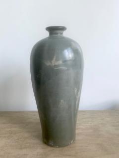 Korean Celadon Vase with Slip Inlay Goryeo Style - 1488870