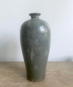Korean Celadon Vase with Slip Inlay Goryeo Style - 1488872