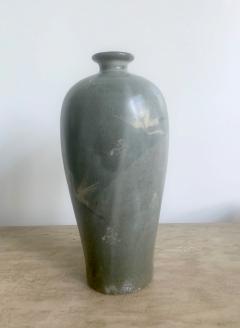 Korean Celadon Vase with Slip Inlay Goryeo Style - 1488873