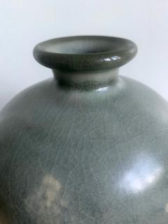 Korean Celadon Vase with Slip Inlay Goryeo Style - 1488877