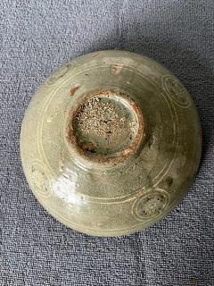 Korean Ceramic Celadon Bowl with Slip Inlay Goryeo Dynasty - 1940994