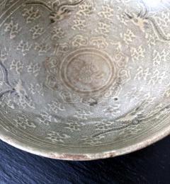 Korean Ceramic Celadon Bowl with Slip Inlay Goryeo Dynasty - 1941000