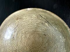 Korean Ceramic Celadon Bowl with Slip Inlay Goryeo Dynasty - 1941002