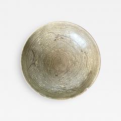 Korean Ceramic Celadon Bowl with Slip Inlay Goryeo Dynasty - 1942431