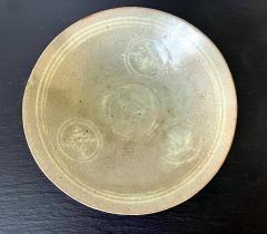 Korean Ceramic Celadon Bowl with Slip Inlay Goryeo Dynasty - 1956725