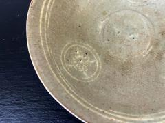 Korean Ceramic Celadon Bowl with Slip Inlay Goryeo Dynasty - 1956726