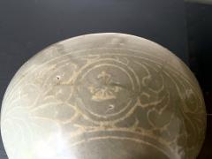 Korean Ceramic Celadon Bowl with Slip Inlay Goryeo Dynasty - 2097550