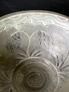 Korean Ceramic Tea Bowl with Slip Inlays Goryeo Dynasty - 2110823