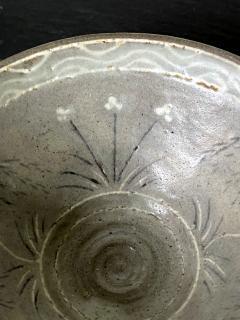 Korean Ceramic Tea Bowl with Slip Inlays Goryeo Dynasty - 2110825