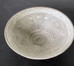 Korean Ceramic Tea Bowl with Slip Inlays Goryeo Dynasty - 2110827