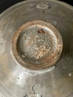 Korean Ceramic Tea Bowl with Slip Inlays Goryeo Dynasty - 2110831
