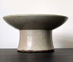 Korean White Ceramic Stem Dish Joseon Dynasty - 2128495