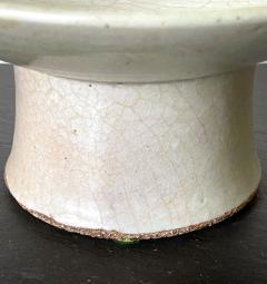 Korean White Ceramic Stem Dish Joseon Dynasty - 2128501