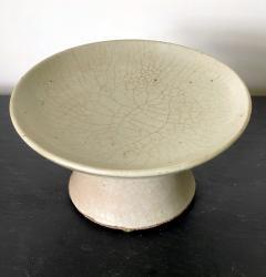 Korean White Ceramic Stem Dish Joseon Dynasty - 2128505