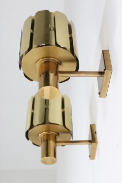 Kosthantverk Tyringe Pair of Swedish Midcentury Wall Lamps in Brass by Tyringe Konsthantverk 1960s - 835565