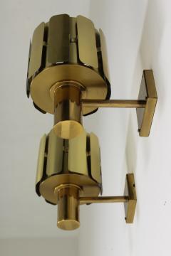 Kosthantverk Tyringe Pair of Swedish Midcentury Wall Lamps in Brass by Tyringe Konsthantverk 1960s - 835566