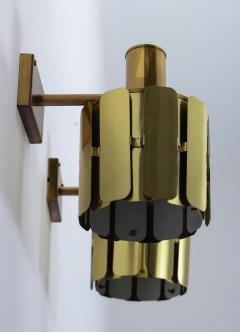 Kosthantverk Tyringe Pair of Swedish Midcentury Wall Lamps in Brass by Tyringe Konsthantverk 1960s - 835567