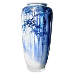 Kozan Makuzu A Large Japanese Blue and White Vase by Mazuku Kozan Meiji Period - 1066119