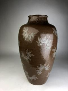 Kozan Makuzu Rare Large Vase with White Slip Inlay Makuzu Kozan Meiji Period - 1164878