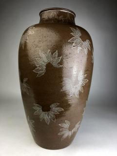 Kozan Makuzu Rare Large Vase with White Slip Inlay Makuzu Kozan Meiji Period - 1164879