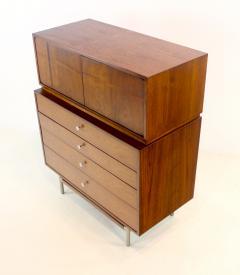 Kroehler Mfg Co Mid Century Modern Walnut Highboy Dresser - 1653806