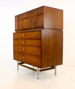 Kroehler Mfg Co Mid Century Modern Walnut Highboy Dresser - 1653807