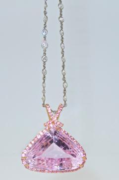 Kunzite and Diamond Necklace - 1141435