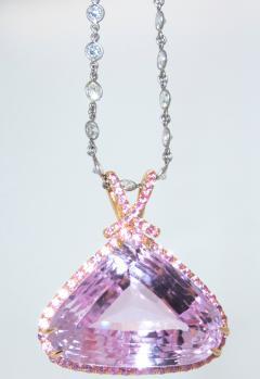 Kunzite and Diamond Necklace - 1141436